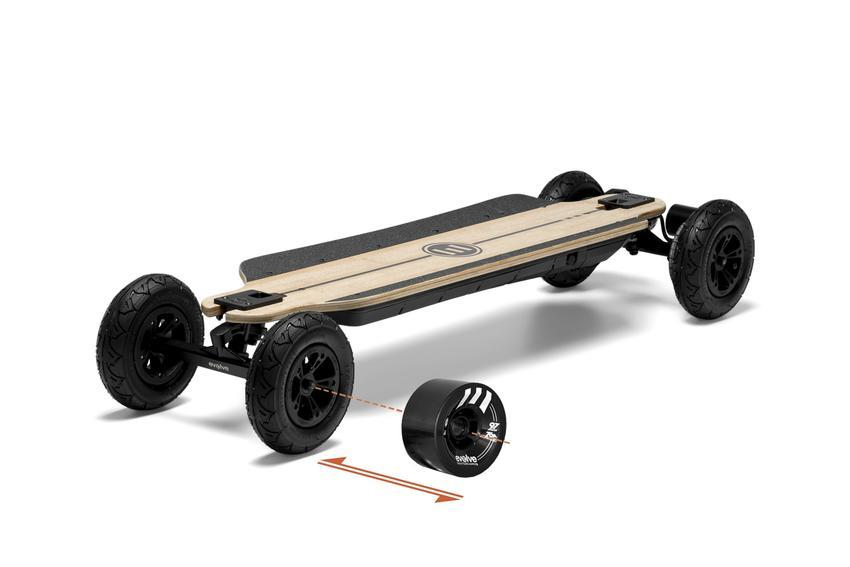 EVOLVE - GTR bamboo 2and1 / roues noires 7' pneus lisses